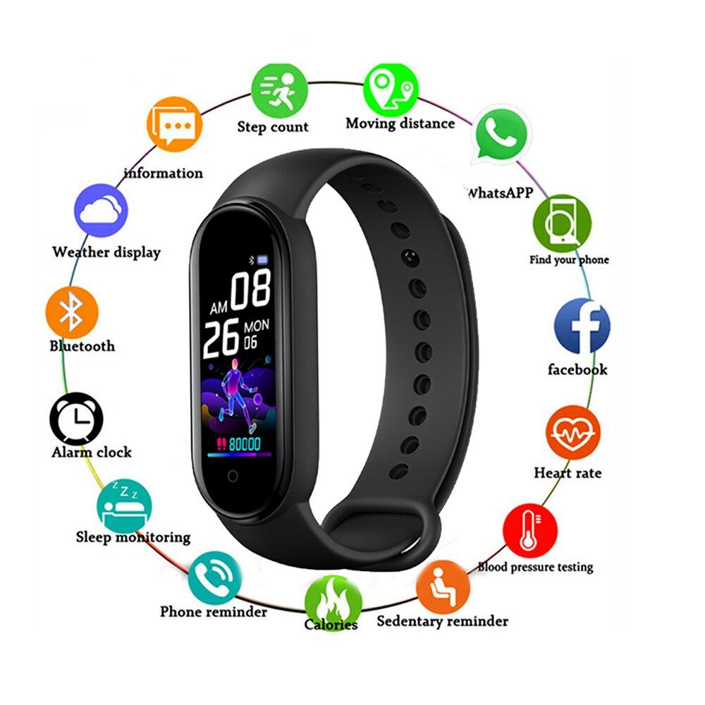 Смарт-браслет M5 с Bluetooth, спортивный фитнес-трекер, шагомер, Смарт-часы M5, мужской пульсометр, напоминание о звонках, смарт-браслет