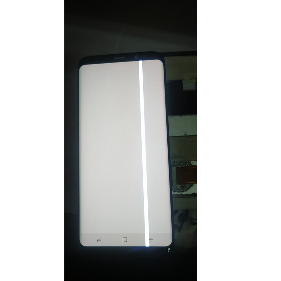 Image 4 - For Samsung S8 LCD Display Touch S8 Plus LCD Display For Samsung  S9 Plus LCD band line display mobile phone defective screenMobile Phone  LCD Screens