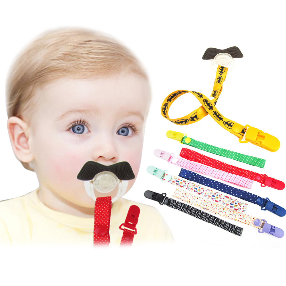 Cartoon Fixed Button Juster lengde Baby Pacifier Clip plast Dummy Holder Soother Chain Drop-resistent spenne stropp barnevogn