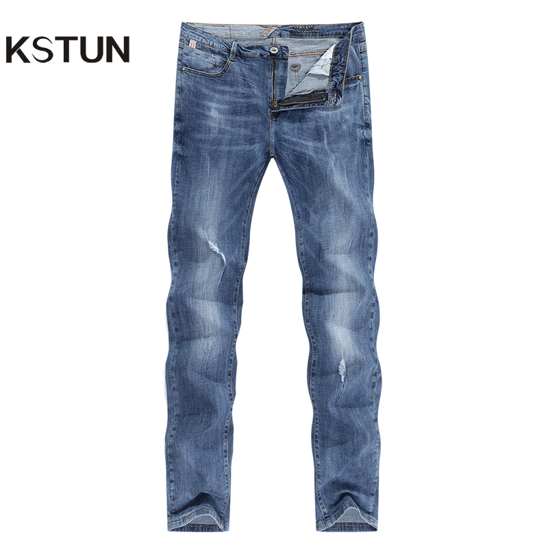 Fashion Biker Jeans Men New Design Ultrathin destroyed Man Rip Jean Slim Fit Hiphop Stretch Blue Casual Denim Pants High Quality