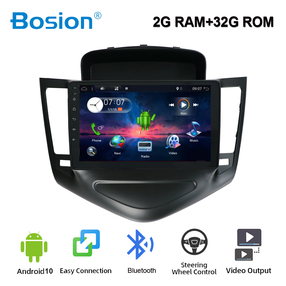 9 inch Car multimedia player 2din Android 10 4core for <font><b>Chevrolet</b></font> <font><b>Cruze</b></font> 2009-2014 car autoradio with GPS WIFI BT <font><b>USB</b></font> 2GRAM+32GROM image