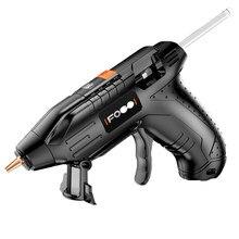 3.6 v de lítio-íon quente melt pistola de cola com 10 pçs 7mm varas sem fio enxerto reparação pistola de calor pneumática casa diy ferramentas pistola de cola quente