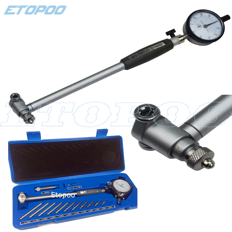 50-160MM 35-50MM 0.01mm Dial Bore Gauge Indicator Diameter Indicators Precision Engine Cylinder Measuring Test Kit Tool Meter