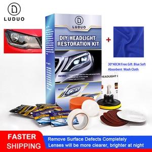 Image 1 - LUDUO, налобный фонарь, аксессуары для восстановления фар, для полировки, ремонта, ремонта, отбеливания, ремонта, осветления, с тканью
