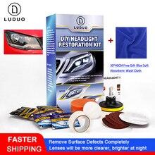 Luduoヘッドランプのための改修修理ヘッドライト修復キットクリーナー改修ペースト洗浄光沢剤修理と布