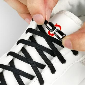 Elastyczne sznurówki których nie trzeba wiązać metalowy zamek sznurowadła dla dzieci trampki dla dorosłych szybkie sznurowadła półkole sznurowadła leniwy 24 kolory tanie i dobre opinie SOBU CN (pochodzenie) Stałe elastic no tie lock shoe laces SZNUROWADŁA SLK01 NYLON excellent for both kids and adults