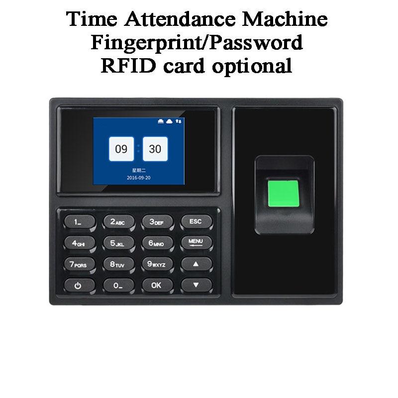 Biometric Fingerprint Code Password DC5V Office Employee Time Attendance Machine USB U Disk TCP/IP French Japanese RFID Card
