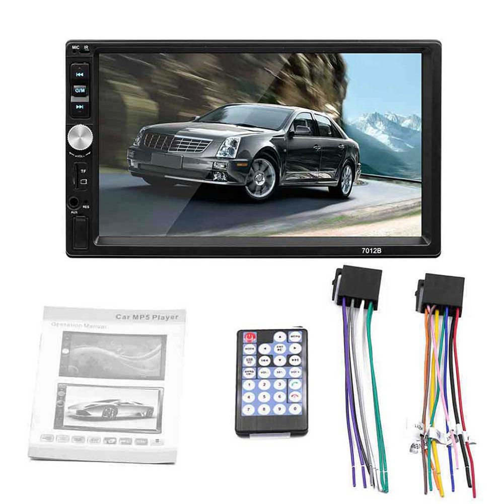 7012 7-inch Double Ingot Car Universal Bluetooth Call MP5 Player Reverse Image Stereo Radio HD Multimedia Player Remote Control