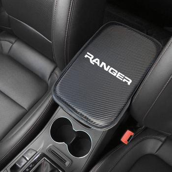 1 sztuk Auto konsola podłokietnik centralny miękka mata podkładka poduszka dla Ford Ranger T6 2008 2017 2018 akcesoria samochodowe tanie i dobre opinie for Ranger -7 Carbon fiber