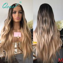 Двухцветные парики из человеческих волос с u образным вырезом