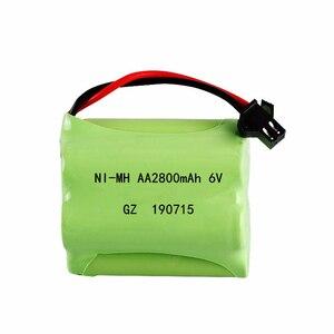 Image 4 - (SM Plug) Ni MH 6v 2800mah Battery + USB Charger For Rc toys Cars Tanks Trucks Robots Boats Guns AA 6v Rechargeable Battery Pack