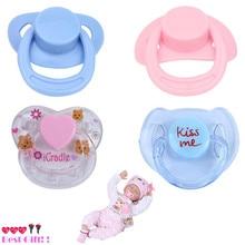 4Pcs Accessories for Dolls Baby Born Boneca Modle dolls Magnetic Dummy Bear Pacifier nipple Cute