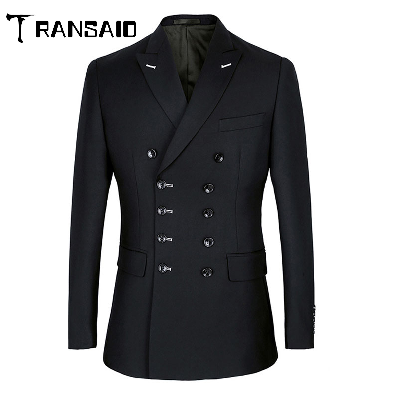 Men's Dark Plaid Fitted Blazer Business Jacket Clothes Double Breasted Wedding Jacket Men 4XL Plus Size Groom Wear Veste Homme