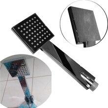Duş başlığı kare su tasarruflu duş başlığı yüksek basınçlı banyo sprey SPA plastik anti-korozyon el galvanik püskürtücü