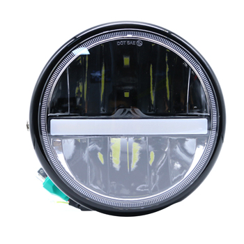 7 Inch LED Headlight 55W Projector Light DRL High Low Beam Driving Lamp Touring Motorcycle