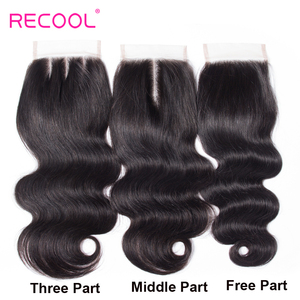 Image 5 - Recool Hair Body Wave Bundles With Closure Remy Hair 6x6 and 5x5 Bundles With Closure Peruvian Human Hair 3 Bundles With Closure