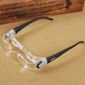 Image 1 - Bicchieri in acrilico Pieghevole Lente di Ingrandimento Diottrie + 3 Prisma Ottico Portatile di Modo Occhiali