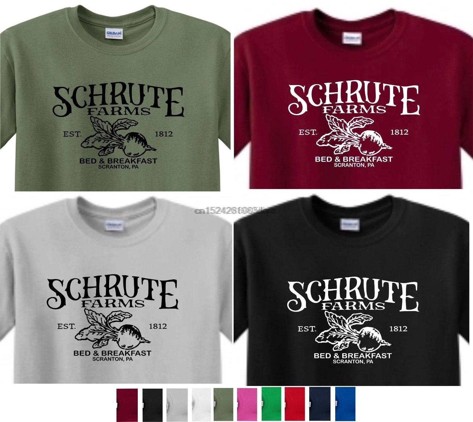 Schrute Farms Bed /& Breakfast Inspired by The US Office Printed T-Shirt