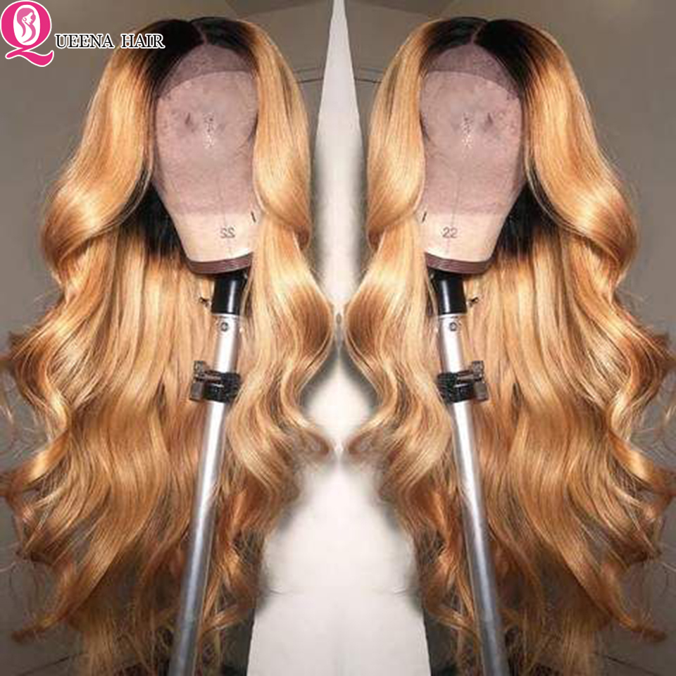 ombre blonde lace front wig (2)