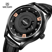 Mens Watches New Luxury Megir Watch Men Watches Sports Special Dial Quartz Watch Business Gentle Clock Designer male saati