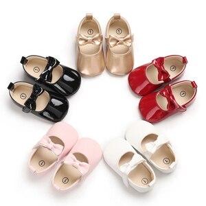 Buty dziecięce na ślub chrzest księżniczka dziecięce buty dziewczęce PU skóra Mary Jane nowonarodzone buciki buty dla małego dziecka dla dziewczynek