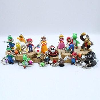 Super Mario Keychain Cartoon Super Mario Doll  Keyring Fashion Mario Bag Charms Pendant Keychains Trinket Kid Gift A Set Of  18 рубашка mario machardi mario machardi mp002xm246yl