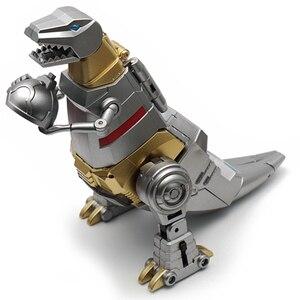 Image 4 - Transformacja dinozaurów metalowa farba Grimlock MF25 metalowa deformacja figurka transformator G1 zabawka