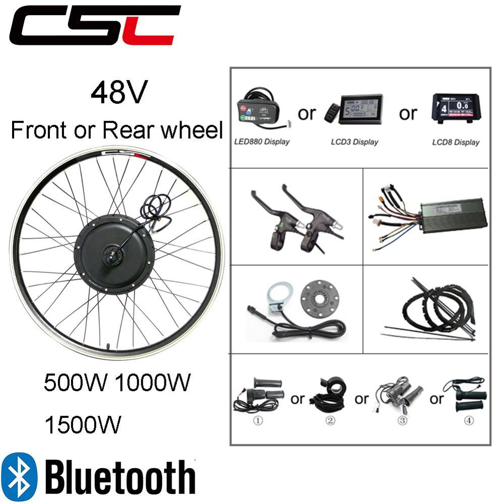 Electric bike Conversion Kit Bluetooth 36V 48V 250W 350W 500W 1000W 1500W 20 29inch 700C EBike