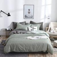 Bedding Set Luxury Green Duvet Cover Bed Set Flat Bedsheet Single Queen King Bedclothes 3 4pcs Bed Linen Nordic Home Textile