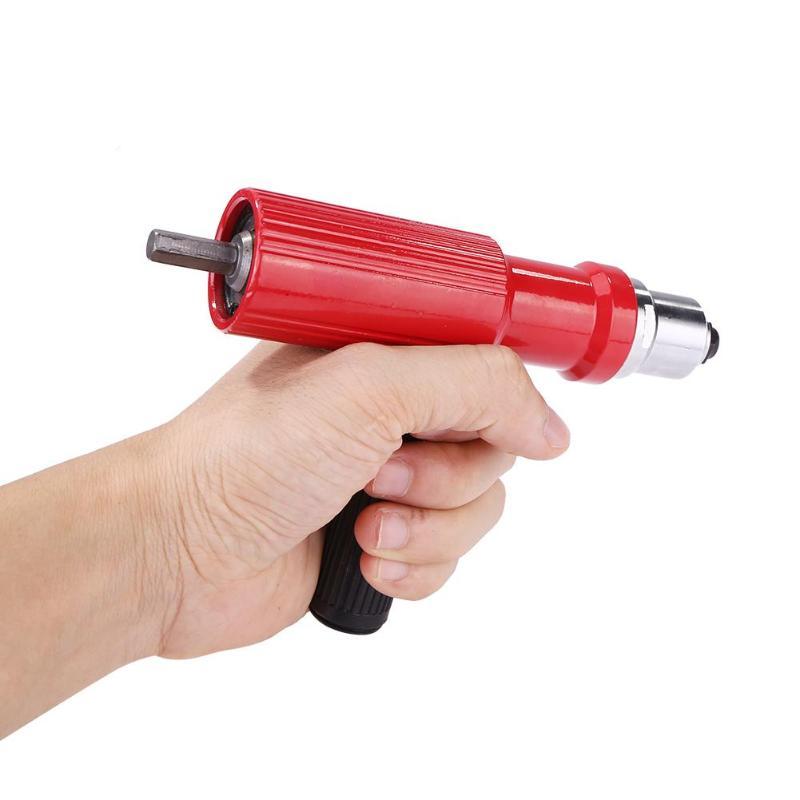 lowest price Electric Pull Rivet Gun Drill Adaptor Insert Riveting Adapter for Cordless Kit Nail Riveting Tool Nail Feature Gun Riveters