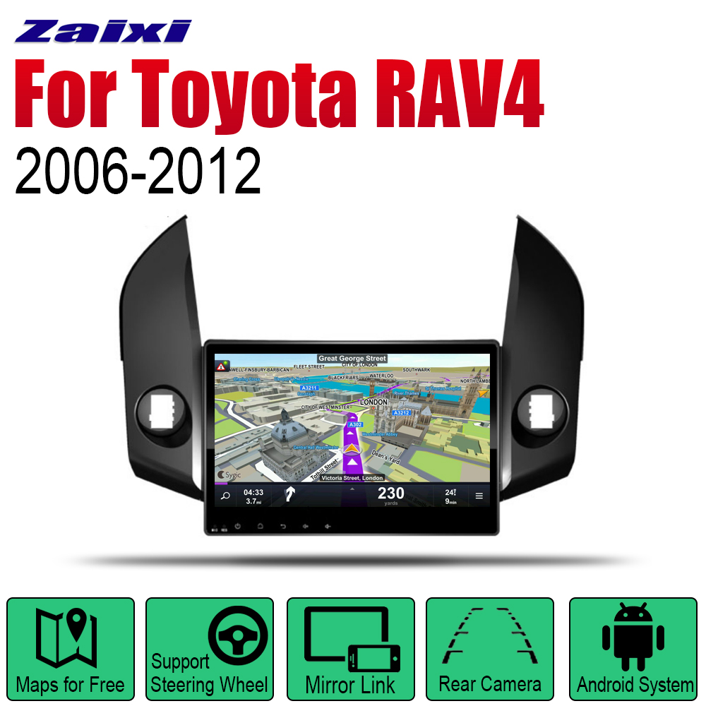Android Car Radio Stereo GPS Navigation For Toyota RAV4 2006 2007 2008 2009 2010 2011 2012 Car Radio Stereo Multimedia Player image