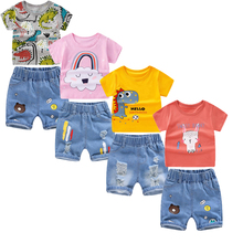 Kids Baby Boys Clothes Set Summer Cartoon T-shirt + Jeans Pants 2PCS Outfits Children Clothing Girls Sport Suit Tracksuit 2-8Y 1 2 3 4 year boys clothes 2018 new cotton casual kids outfits star shirts stripe pants 2pcs baby children clothing set