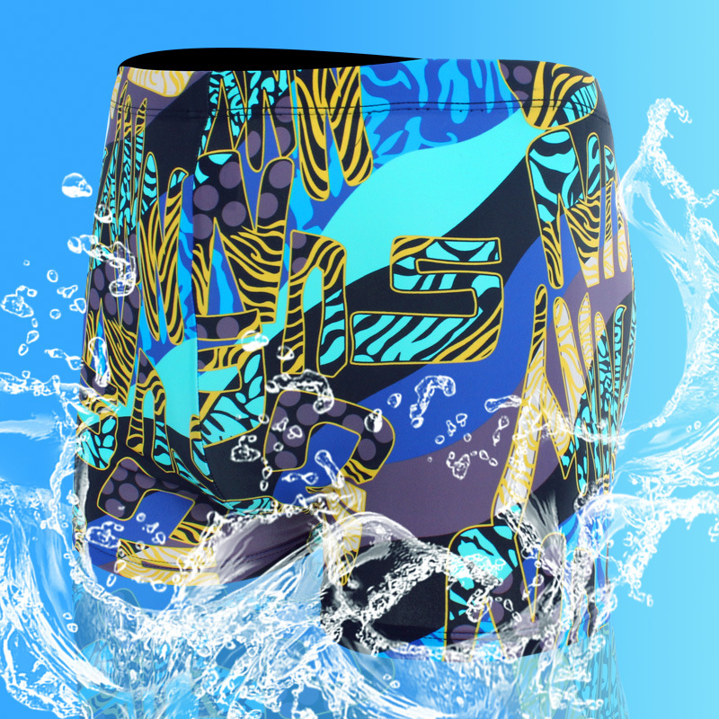 Liaoning Xing Cheng Wen Quan Beach Fashion Korean-style Quick-Dry 3D Digital Direct Injection Chinlon Printed Men Boxer Swimming