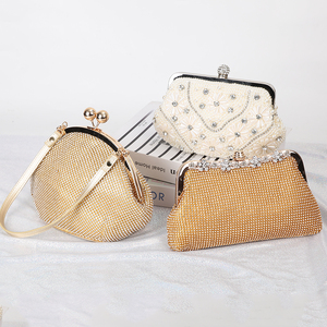 Image 4 - Lüks ay altın el çantası bayan el çantası düğün debriyaj kristal çanta lüks kadın çanta moda günlük cüzdan