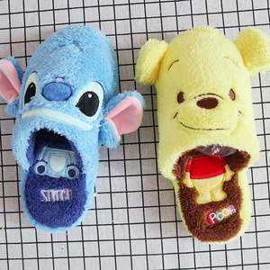 Image 4 - Aeruiy soft plush cartoon anime characters Stitch Donald Duck series home floor indoor slippers,Cute birthday gift for family