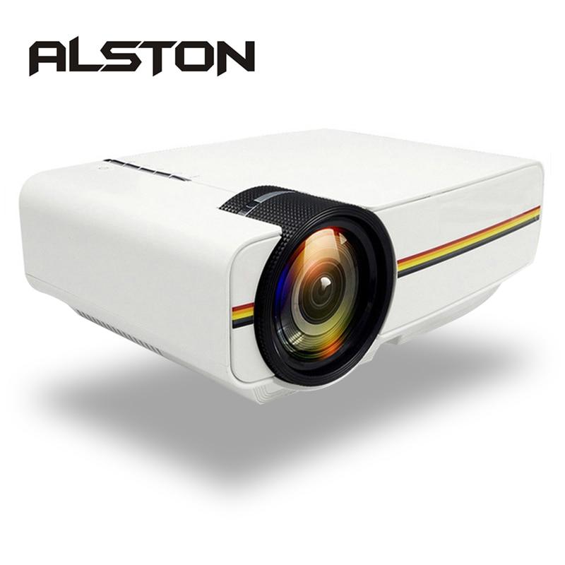 Алстон YG400 обновления YG410 Мини проектор 1080P 1800 люмен Портативный ЖК-дисплей светодиодный проектор для домашнего Кино USB HDMI совместимых с 3D Би...