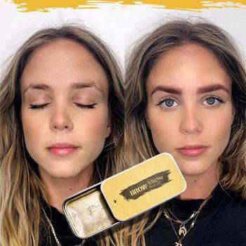 3D Feathery Brows Eyebrow Shaping Cream Brows Makeup Gel Soap Waterproof Long Lasting Eyebrow Setting Gel Brows Kit