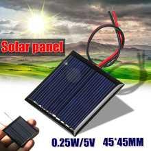 LEORY солнечная панель 5 в 0,25 Вт солнечное зарядное устройство 5 в зарядное устройство для телефона 5 в Мини DIY эпоксидный поликристаллический элемент для мобильного телефона