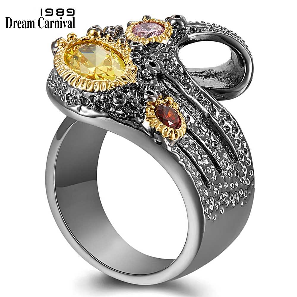 DreamCarnival1989 Give U @ Different Look Women Rings Twisted Ribbon Design Unique Quality Chic CZ Fashion Jewelry 2019 WA11753
