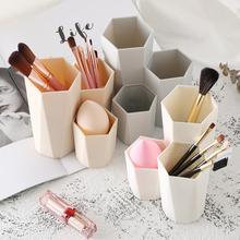 Пластиковая настольная коробка для хранения косметики, кисти для губной помады, органайзер, инструмент для макияжа
