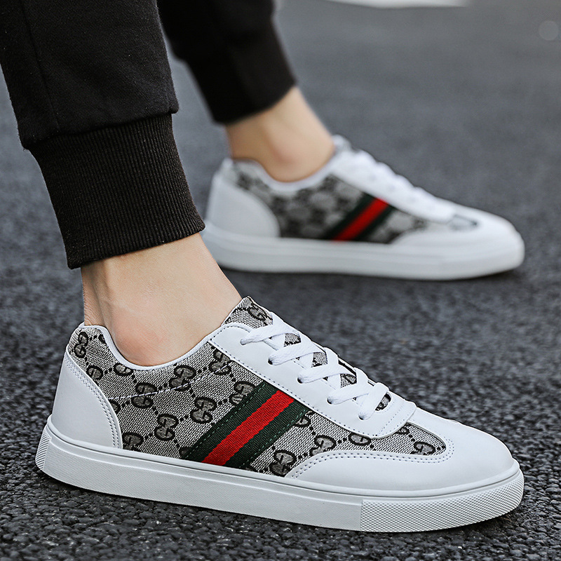 Autumn New Style 2019 Korean style Men's Flat Shoes Youth Trend Students Casual Low top Shoes Versitile Fashion|Men's Casual Shoes| - AliExpress
