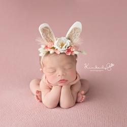 Bebê meninas do laço cabeça de cabelo banda infantil recém-nascido arcos headwear hairband headwrap floral headbands do bebê fotografia prop