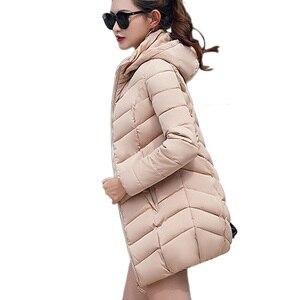 Image 4 - سترات شتوية للسيدات لعام 2019 معاطف دافئة قابلة للنفخ مع ياقة من الفرو ملابس شتوية للسيدات ملابس عصرية سميكة خارجية