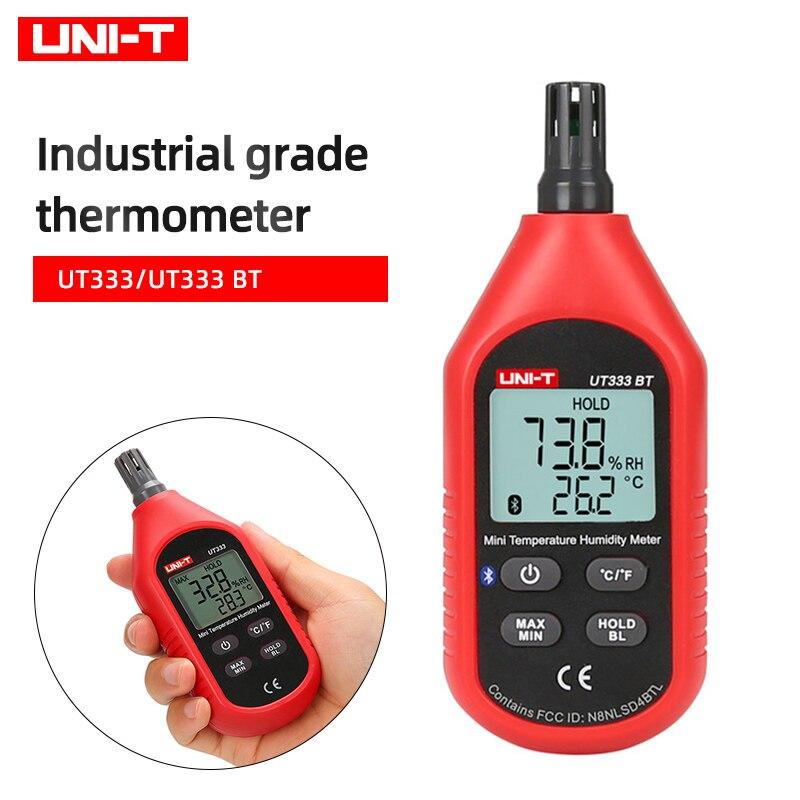 UNI-T UT333 ручной температура и влажность, цифровой прибор для измерения уровня промышленный воздушный температура и влажность детектор UT333BT