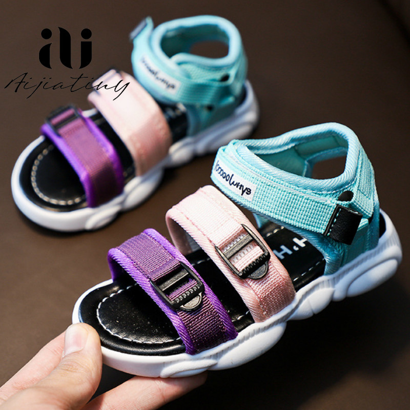 Colourful Toddler Girl Sandals Summer Kids Shoes Casual Sport Sandals For Children Soft Beach Sandals Baby Boys 2020