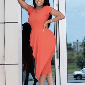 Women Orange Bodycon Dress Office Ladies Work Fashion Slim Classy Modest Female Elastic Sheath Plus Size Vestido Elegant Robes color block plus size work bodycon dress