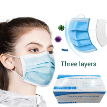 10/20/30/50pcs Non Woven Disposable Mouth Face Mask 3 Layer Earloop Activated Carbon Anti-Dust Face Surgical Masks