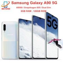 Samsung – téléphone portable Galaxy A90 5G A9080, écran de 855 pouces, smartphone, double Sim, Snapdragon 128, 8 go de RAM, 6.7 go de ROM, Octa Core, Triple caméra, NFC