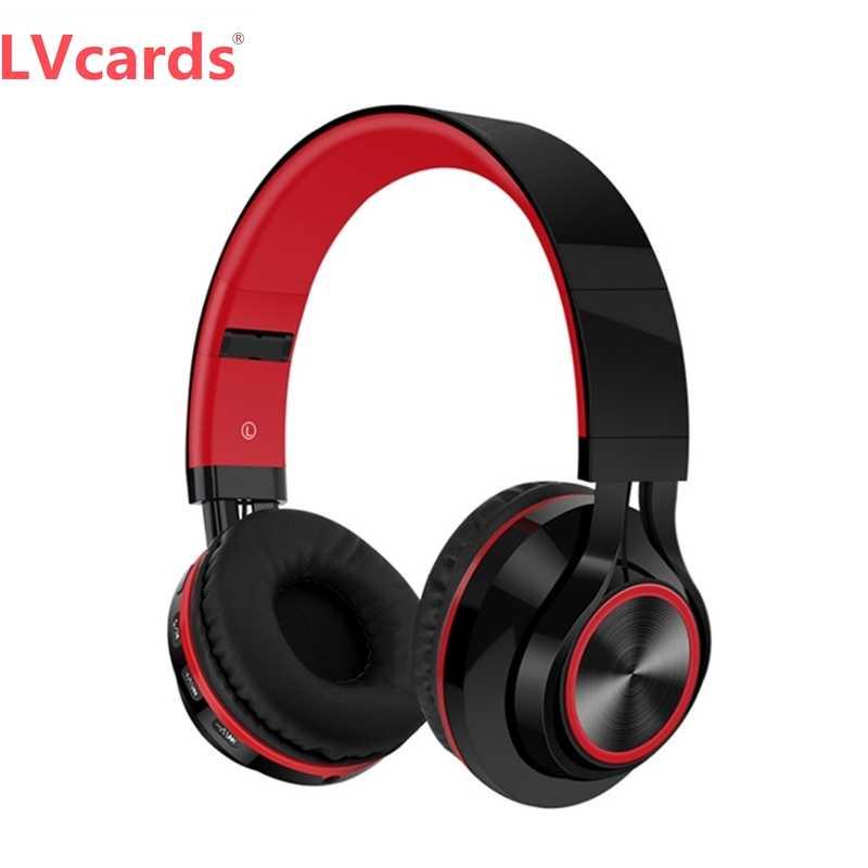 LVcards ワイヤレスヘッドフォン Bluetooth ヘッドセット折りたたみヘッドホン PC 電話イヤホン用のマイクで A1-01
