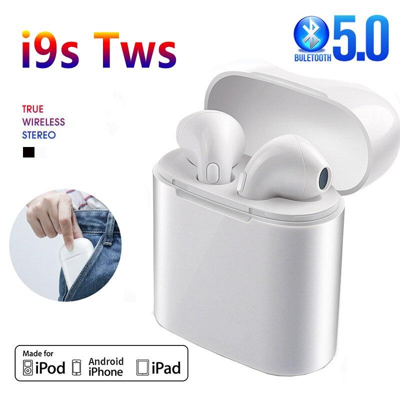 Esportes fones de ouvido i9s fone de ouvido sem fio bluetooth 5.0 fones estéreo som para iphone android telefone móvel